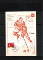 Schweiz / Switzerland 1961 Geneve European & World Ice Hockey Championship Opening Match Scarce Limited Edition Leaflet - Hockey (sur Glace)