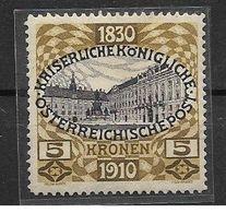 AU-013 AUSTRIA1908-FRANC JOSEF-CAT. MICHEL NUMMER 155 -used - 1850-1918 Empire