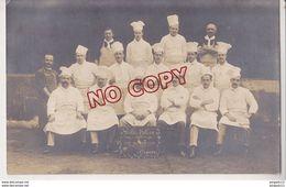 Au Plus Rapide Carte Photo Excellent état La Brigade De Cuisine Du Gallia Palace Saison 1912 1913 Cannes - Cannes