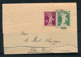 """HELVETIA - Streifbänder - Stempel """"ZURICH 1""""  Dd. 26-IX-1910 - (ref. 15) - Enteros Postales"""