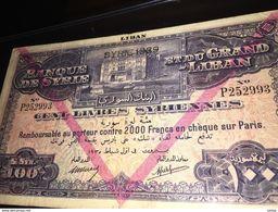 See Photos. Syria Banque De Syrie Et Du Grand-Liban 100 Livres 1939 Banknote - Syrie