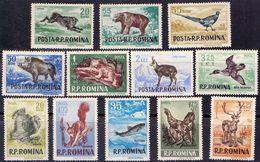 ROMANIA - BEER- RABIT - DEER - BIRDS - **MNH - 1956 - Paons