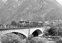 BVA -  Pont De Roveredo  - Rhätische Bahn - RhB - R.h.B. Ligne De Chemin De Fer Train - TI Ticino