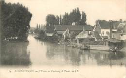 59 - Valenciennes - L'Escaut Au Faubourg De Paris - Précurseur - Oblitération Ronde De 1904 - CPA - Voir Scans Recto-Ver - Valenciennes