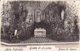 PIOVE DI SACCO - PADOVA - LA GROTTA DI LOURDES NELL'ASILO INFANTILE - 1932 - Padova (Padua)