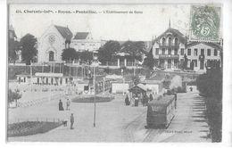 CPA 17200 ROYAN  :  Pontaillac - Le Tram  - Terminus à L'Etablissement De Bains  1907  Cliché Braun - Royan