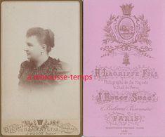 En 1891-CDV Joli Dos Par Lagriffe Fils, Hugot Succ. Photographe Du Shah De Perse-lion- Paris- TB état - Old (before 1900)