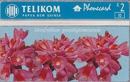 PAPUA NEW GUINEA - Dendrobium Pseudoglomeratum, CN : 512L, Tirage 10000, Mint - Papouasie-Nouvelle-Guinée