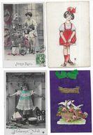 Fantaisies Lot De 1000 CPA Fantaisies/Femmes/Enfants/Hommes/Couples/Gauffrées/Fètes... - Cartes Postales