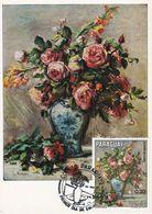 Carte Maximum Peinture Paraguay 1973 Auguste Renoir - Paraguay
