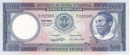 BILLETE DE GUINEA ECUATORIAL DE 500 EKUELE DEL AÑO 1975 SIN CIRCULAR - UNCIRCULATED  (BANKNOTE) - Equatorial Guinea