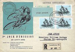 Luxembourg - Poste-Aérienne - Flugpost  20.VIII 1952  FDC - Lettre Officielle - Recommandé - Oblitérés