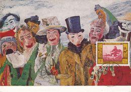 Carte Maximum Peinture  Belgique 1958 James Ensor - Maximum Cards