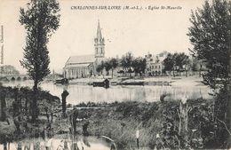 49 Chalonnes Sur Loire Eglise St Saint Maurille Cachet 1915 - Chalonnes Sur Loire