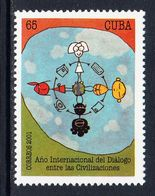 2001 Cuba Dialogue Of Civilizations JOINT ISSUE Complete Set Of 1 MNH - Cuba