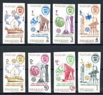 Sharjah, 1965, ITU Centenary, Telecommunication, United Nations, MNH Imperforated, Michel 185-192B - Sharjah