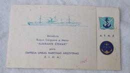 Argentina Argentine Merchant Ship Freighter Adm Stewart Launching Lancement Invitation  #13 - Historische Documenten