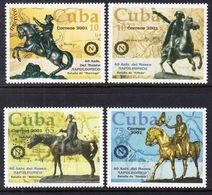 2001 Cuba Napoleon Museum Horses Complete Set Of 4 MNH - Cuba