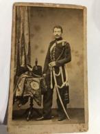 Cdv Cavalier 4 E Régiment De Chasseurs à Cheval ( Libourne ) En Grande Tenue 1854 - 1868 - Guerre, Militaire