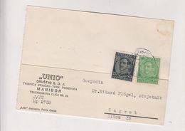 YUGOSLAVIA,1932 MARIBOR Firm Postcard - Briefe U. Dokumente
