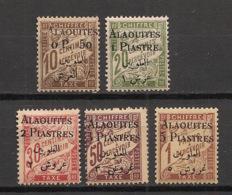 Alaouites - 1925 - Taxe TT N°Yv. 1 à 5 - Série Complète - Neuf * / MH VF - Alevieten (1923-1930)