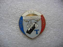 Pin's Brigade Des Transmissions De La Police-CRS Nationale - Police
