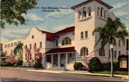 Florida Clearwater First Methodist Church 1954 Curteich - Clearwater