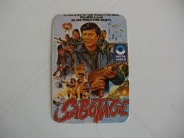 Cinema Films Movies Vista Video Sabotage Portugal Portuguese Pocket Calendar 1987 - Calendriers
