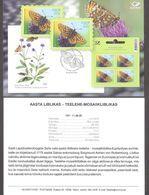 Butterfly Of The Year Estonia 2020  Stamp  Presentation Card (est) Mi 992 - Estonia