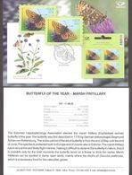 Butterfly Of The Year Estonia 2020  Stamp  Presentation Card (engl) Mi 992 - Estonia