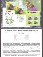 Butterfly Of The Year Estonia 2020  Stamp  Presentation Card (germ) Mi 992 - Estonia
