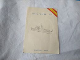 Spanish España Navy Warship Corbeta Diana Welcome Aboard Invitation #13 - Andere