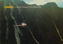 Papillon Helicopters, Kaui And Maui Hawaii Air Tour Company, C1970s Vintage Postcard - Helicopters