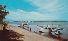 Midway Seaplane Base Bemidji Minnesota, Seaplanes On Lake, C1950s Vintage Postcard - 1946-....: Modern Tijdperk