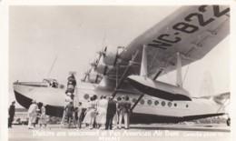 Pan American Clipper Flying Boat Air Base Miami Florida, Visitors View Plane, C1940s Vintage Real Photo Postcard - 1946-....: Modern Tijdperk