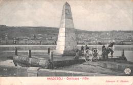 R380634 P. R. Argostoli. Obelisque. Mole. Librairie N. Nicolato. Alterocca Terni. 5309 - Cartoline