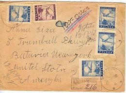 POLAND  REG.  COVER  TO U.S.A. 1947 - Airmail