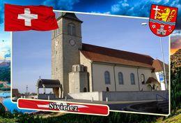 Postcard, REPRODUCTION, Municipalities Of Switzerland, Siviriez - Landkaarten