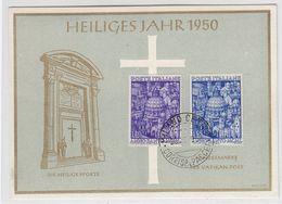 Vatikan 1950 Heiliges Jahr Seltene Ersttagskarte Mit Italienischer Frankatur+SST - Vatican