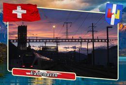 Postcard, REPRODUCTION, Municipalities Of Switzerland, Cadenazzo 2 - Cartes Géographiques