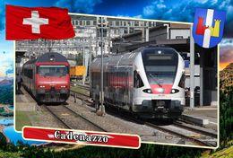 Postcard, REPRODUCTION, Municipalities Of Switzerland, Cadenazzo 3 - Landkaarten