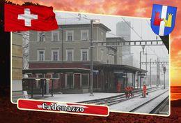 Postcard, REPRODUCTION, Municipalities Of Switzerland, Cadenazzo 4 - Cartes Géographiques