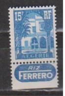ALGERIE       N°  YVERT  :    314 A  NEUF AVEC CHARNIERES      ( CHARN  03/ 45  ) - Ungebraucht