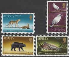 Jersey 1972 MiNr. 65 - 68 WILDLIFE PRESERVATION TRUST II Birds Mammals Reptiles 4v MNH** 4,00 € - Jersey