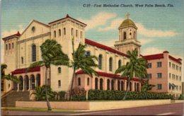 Florida West Palm Beach First Methodist Church Curteich - West Palm Beach