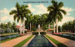 Florida Palm Beach Memorial Fountain Curteich - Palm Beach