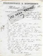 02 - Aisne - AGUILCOURT - Facture MEHAUT-MANSION - Charronnage, Menuiserie - 1914 - REF 149A - France