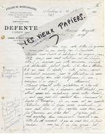 02 - Aisne - AMBLENY - Facture DEFENTE - Maréchalerie - 1919 - REF 149A - France