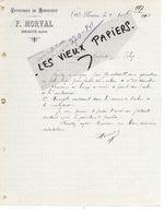 02 - Aisne - BRAINE - Facture MORVAL - Menuiserie - 1910 - REF 149A - 1900 – 1949