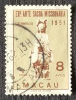 MAC5371U - Missionary Holy Art Exhibition 8 Avos Used Stamp - Macau 1953 - Macao
